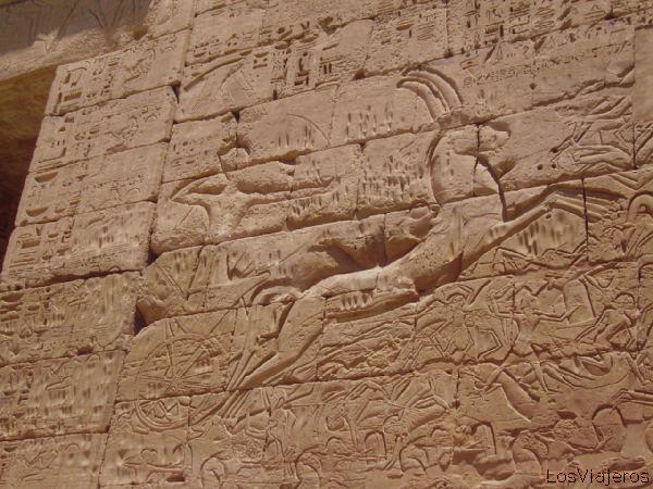 Ramses III -Medinet Habou -Egypt Ramsés III -Medinet Habou -Egipto