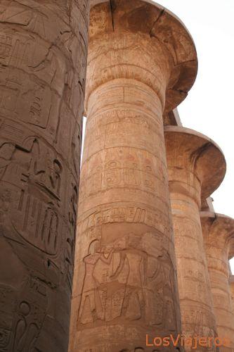 Columnas de Karnak -Luxor -Egipto