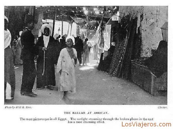 Bazaar in Assouan - Egypt Bazar en Asuán - Egipto
