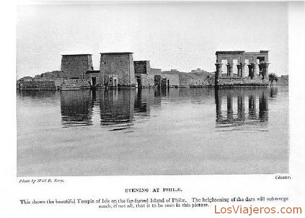 Temple of Philae in Assouan - Egypt Templo de Philae en Asuán - Egipto