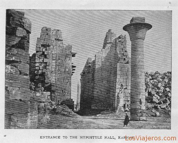 Sala hipóstila en Karnak - Egipto