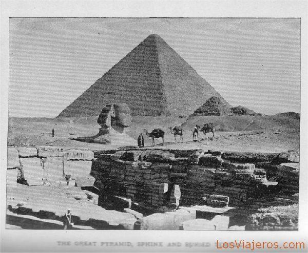 The Great Pyramid and the Sphinx of Gizeh - Egypt La Gran Pirámide y Esfinge de Giza - Egipto