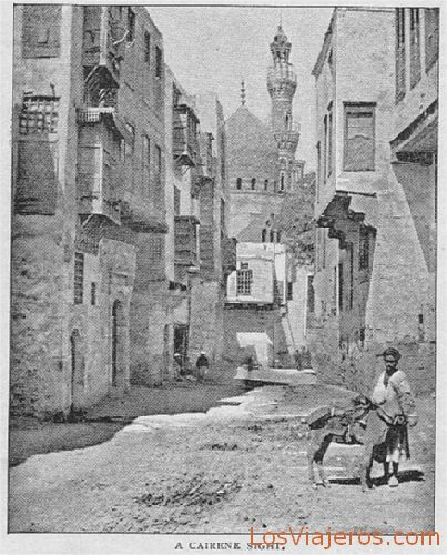 Sight of a street - Egypt Vista de una calle - Egipto