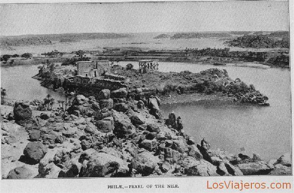 General view of Philae Temple - Egypt Vista general del Templo de Philae - Egipto