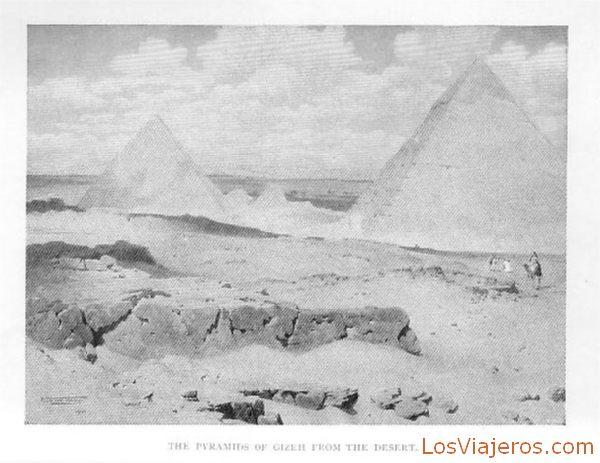 Pyramids of Gizeh - Egypt Pirámides de Giza - Egipto