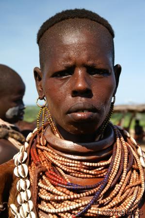 Mujer Karo - Murille - Valle del Omo - Etiopia