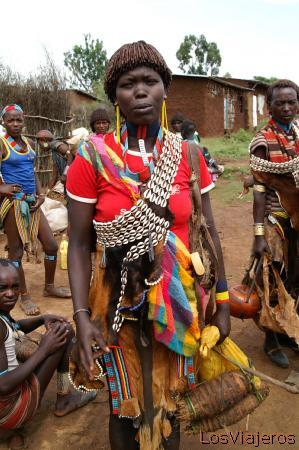Mujer Banna - Keyafer - Valle del Omo - Etiopia Banna Woman - Key Afer - Omo Valley - Ethiopia