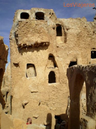 Nalut, Castillo, soluciones de arquitectura popular - Libia Nalut, the  Castle, popular architecture solutions - Libya