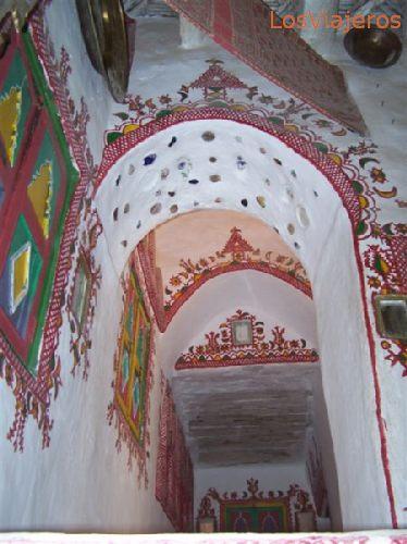 Ghadames,Interior de vivienda - Libia Ghadames, home interior - Libya