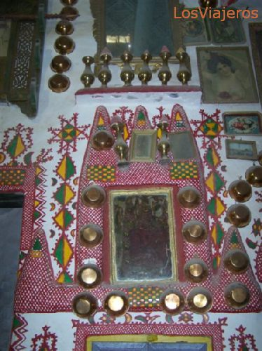 Ghadames, room walls decoration - Libya Ghadames, decoración de interiores - Libia