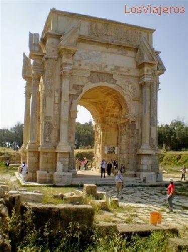 Leptis magna, Septimus Severus Arch - Libya Leptis Magna, arco de Séptimo Severo - Libia