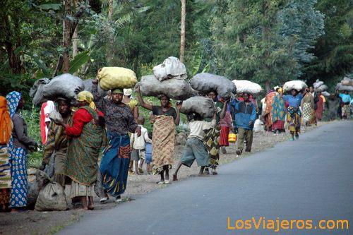 From way to the market - Rwanda De camino al mercado - Ruanda
