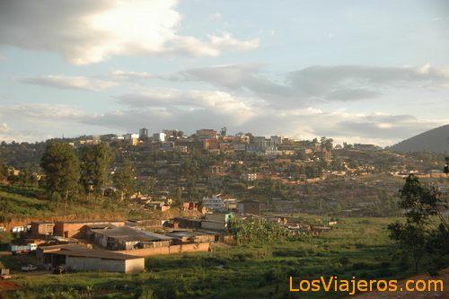 Kigali, the capital of Rwanda Kigali, la capital de Ruanda
