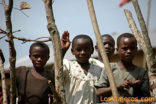 Ugandan children Niños ugandeses - Uganda