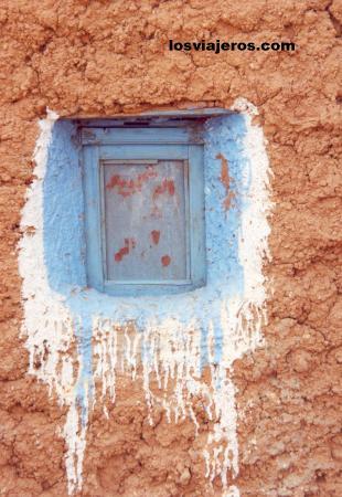 Traditional mud houses - Tindouf - Algeria Casa tradicional de adobe - Tindouf - Argelia