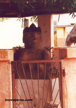 Uno de los centros del Voodoo- Ouidah - Benin Voodoo Center - City of Ouidah - Benin