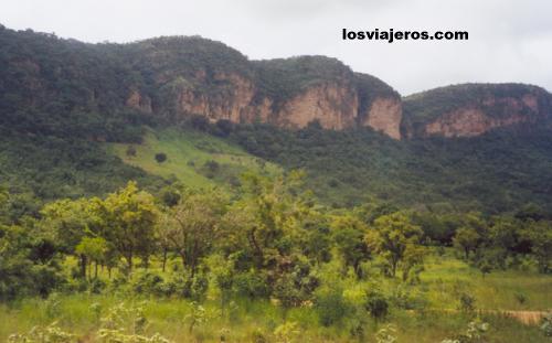 Paisaje cerca de Natitingou - Benin Landscape near Natitingou - Benin