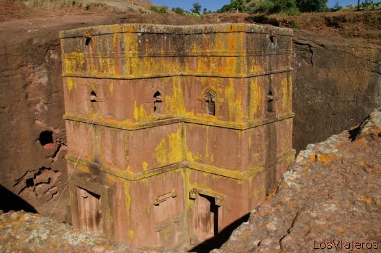 San Jorge -Iglesia excavada en piedra Lalibela- Etiopia