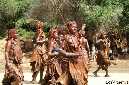 Hamer Dances- Etiopia - Ethiopia Danza Hamer - Etiopia