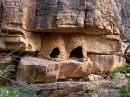 Ir a Foto: Graneros - Falla de Bandiagara  Go to Photo: Barns - Bandiagara Escarpment