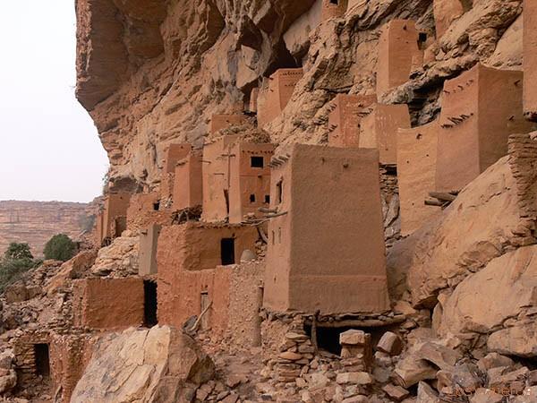 Graneros en la Falla de Bandiagara -Mali- Telly Barns in Bandiagara Escarpment -Mali- Telly