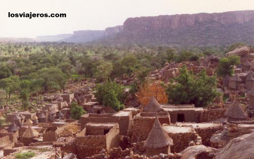 Paisajes del Acantilado o Falla de Bandiagara - País Dogon - Mali