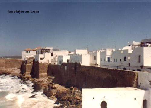 Vista general de las murallas de Asilah - Morocco Vista general de las murallas de Asilah - Marruecos