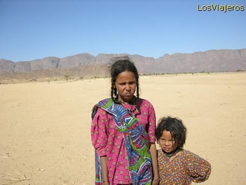 Children -Niger Niñas Tuareg- Niger