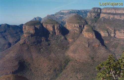 The three Rondavels - South Africa Los tres Rondavels - Sudafrica - Sud Africa