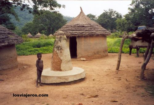 Traditional tribes houses in Togo - Near Niantougou Traditional tribes houses in Togo - Near Niantougou