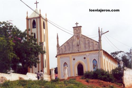 Church in Togoville - Togo Iglesia en Togoville - Togo