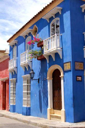 Cartagena´s houses - Colombia Fachadas de las casas de Cartagena de Indias - Colombia