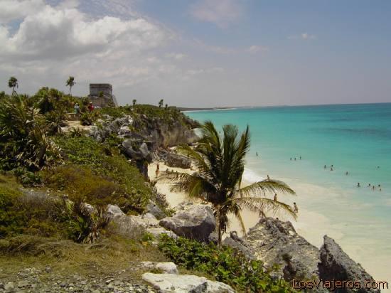 Playa de Tulum- Riviera Maya - Mexico Tulum Beach -Mayan Riviera - Mexico