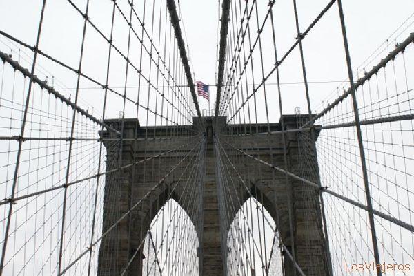 Brooklyn Bridge - New York - USA Puente de Brooklyn - Nueva York - USA