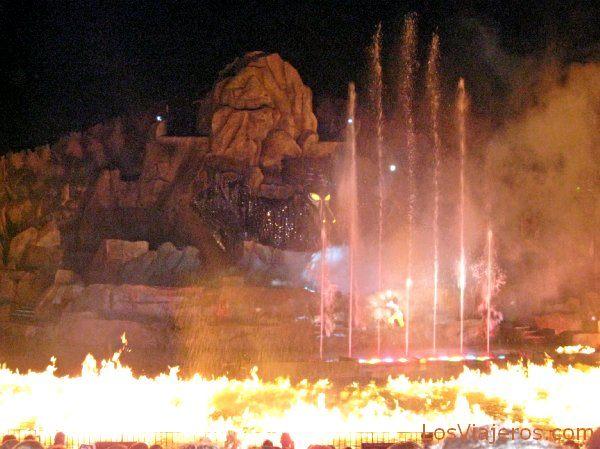 Espectáculo Fantasmic - Disneyland - USA