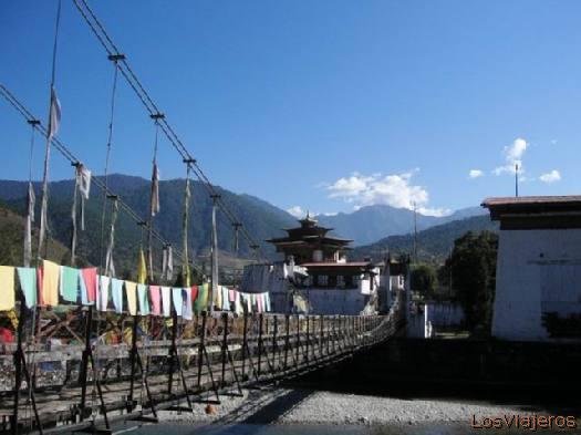 Punakha bridge - Bhutan Puente de Punakha - Bhutan