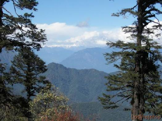 Bhutan mountains Montañas de Bhutan