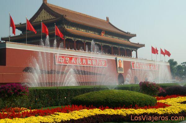 Tiananmen gate - Beijing - China Puerta de Tiananmen desde la Plaza de Tiananmen - Pekin - China