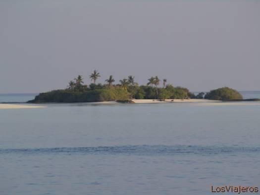 Isla deshabitada- Maldivas