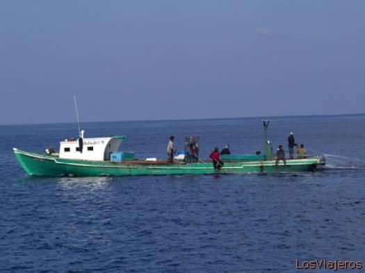 Barco de pesca- Maldivas