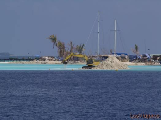En construcción- Maldivas Under construction- Maldives