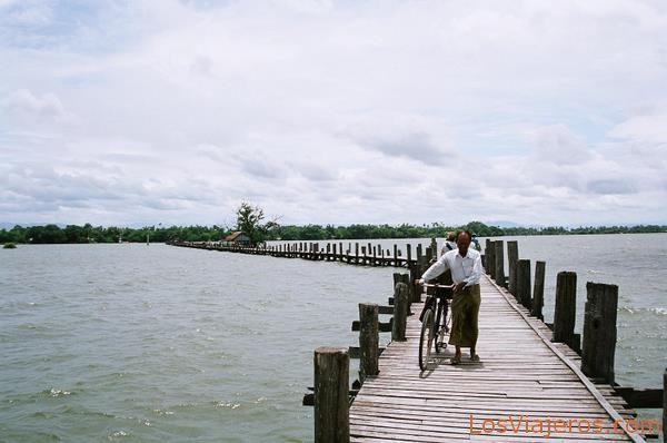 Puente de U Bein-Amarapura-Myanmar U Bein's Bridge-Amarapura-Burma - Myanmar