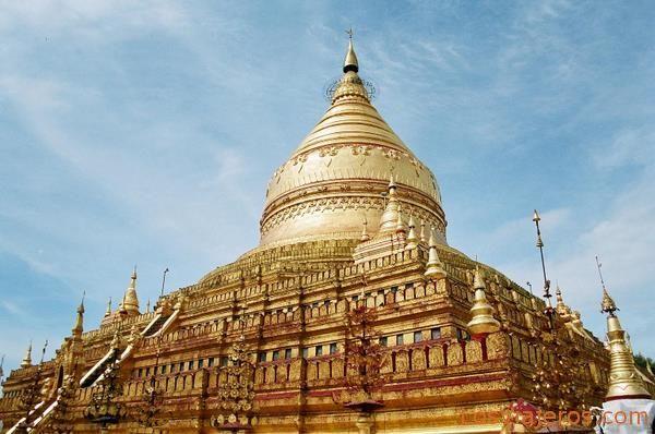 Pagoda Shwezigon-Bagan-Myanmar Shwezigon Pagoda-Bagan-Burma - Myanmar