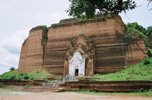 Pagoda inacabada de Pahtodawgyi-Mingun-Burma - Myanmar Unfinished Pahtodawgyi Pagoda-Mingun-Myanmar