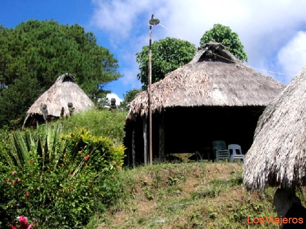 Ifugao houses - Philippines Casas de la etnia ifugao - Filipinas