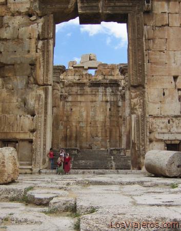 Entrada al Templo de Jupiter - Baalbeck - Libano