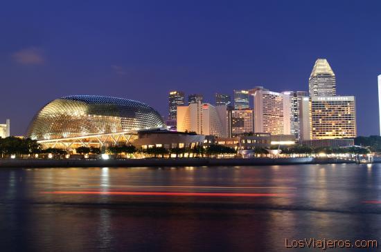 Marina Bay on the night - Singapore La Bahia de noche - Marina Bay - Singapur