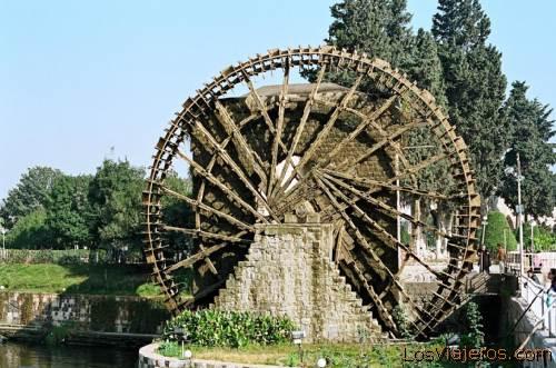 Hama - Water-wheel -Syria Hama- Noria de Agua -Siria