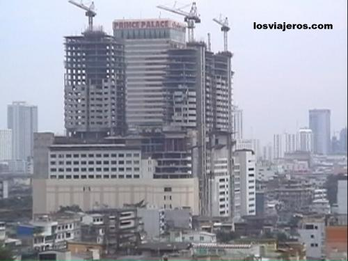 General view of Bangkok: new buildings. - Thailand Vista general de Bangkok desde la Montaña Dorada - Tailandia