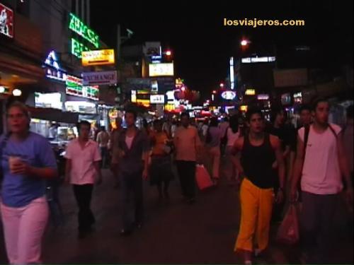 Kao San Street in the night - Bangkok - Tailandia